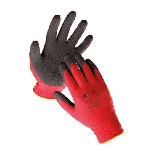 fridrich & fridrich hornbill light munkavédelmi kesztyű fekete/piros (12pár/cs)