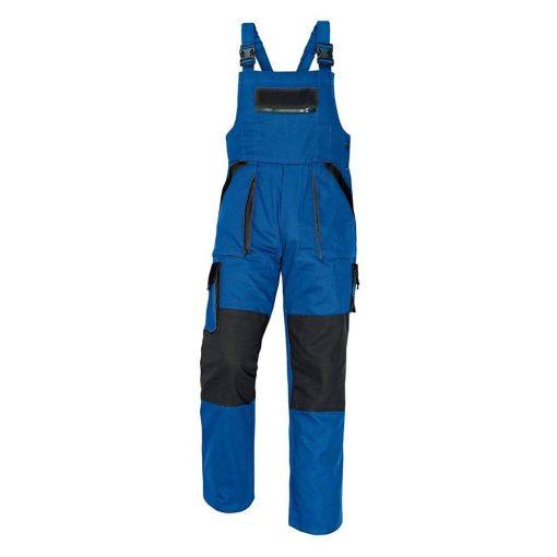 cerva max munkavédelmi mellesnadrág fekete/kék 60