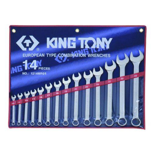 king tony 14 részes csillag-villáskulcs készlet 10-32mm (1214MR)