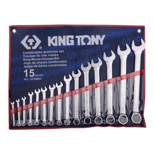 king tony 15 részes csillag-villáskulcs készlet 6-32mm (1215MR02)