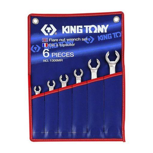 king tony 6 részes fékcsőkulcs készlet 8-22mm (1306MR)