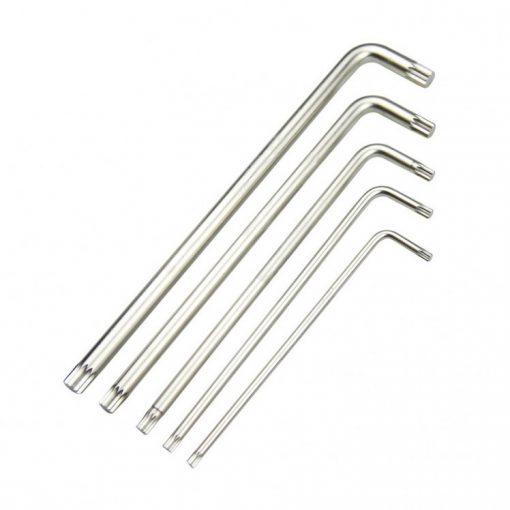 king tony 5 részes spline L-nyelű hosszú imbuszkészlet (20515PR01)