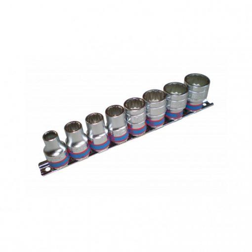 """king tony 8 részes kézi dugókulcs készlet 1/2"""" 12x10-22mm (4010MR)"""