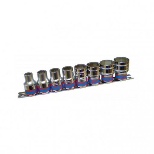 """king tony 8 részes kézi dugókulcs készlet 1/2"""" 6x10-22mm (4510MR)"""