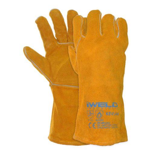 iweld bélelt kevlar védőkesztyű sárga