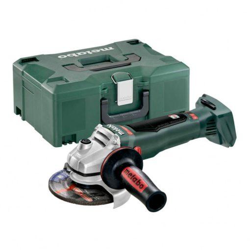 Metabo WB 18 LTX BL 125 Quick akkus sarokcsiszoló 18V alapgép, 125mm Metaloc kofferben