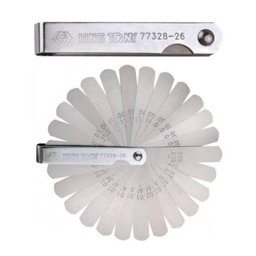 king tony hézagmérő 26 pengés 0,038-0,635mm (77328-26)