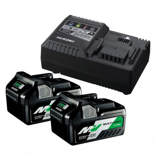 Hikoki BSL36A18 + UC18YSL3 akkumulátor csomag 36V 2x2,5Ah