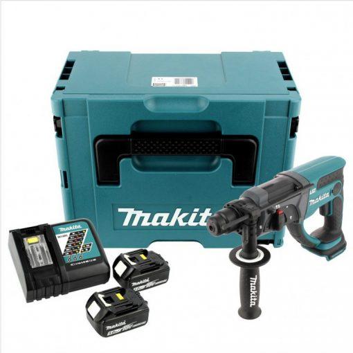 Makita DHR202RTJ akkus SDS plus fúró-vésőkalapács 18V 2x5,0Ah