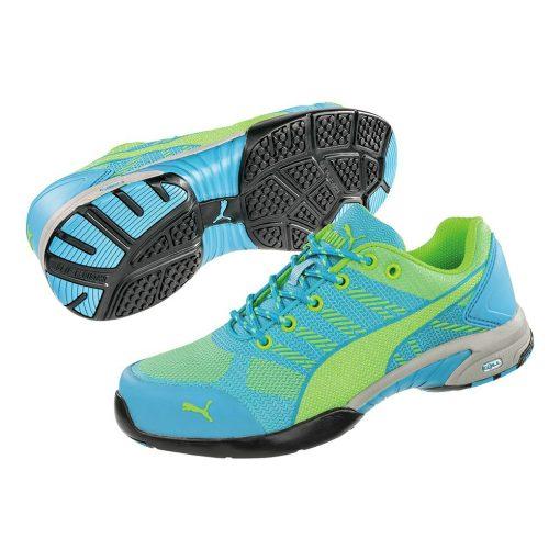 puma celerity knit blue wns munkavédelmi cipő kék/zöld s1p hro src