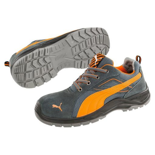 puma omni flash low munkavédelmi cipő szürke/narancs s1p src