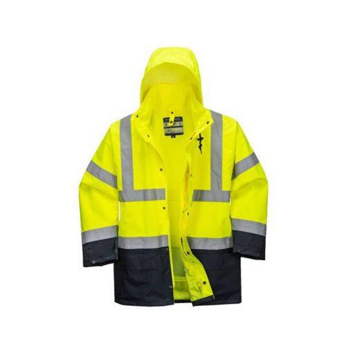 portwest s766 essential láthatósági kabát 5in1 fekete/sárga