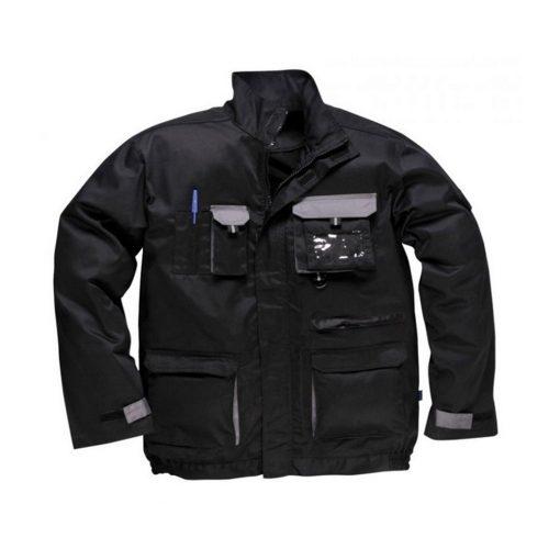 portwest tx10 texo munkavédelmi kabát fekete/szürke