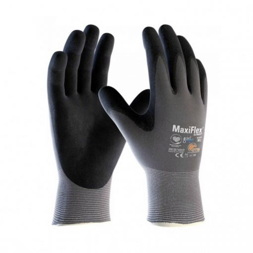 atg maxiflex ultimate munkavédelmi kesztyű ad-apt fekete/szürke